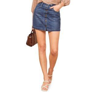 Reformation Alison Denim Skirt